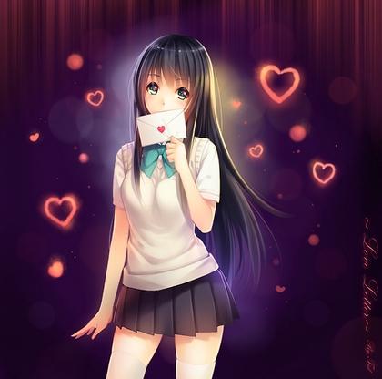 黒髪ロングの女の子の画像