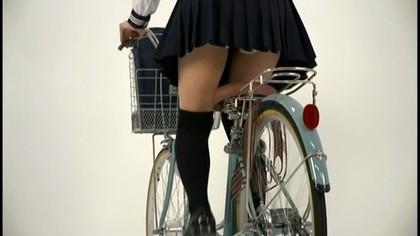 自転車のパンチラ