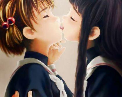 【二次画像】女の子同士がキスしてる画像ください PINK速報