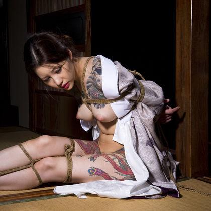 【SM☆緊縛刺青】昭和の情景漂う緊縛*M女の憂い! - SM・緊縛・調教・浣腸画像