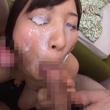 大量顔射後のお掃除フェラで息もできない