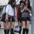 【JKパンチラ】女子高生のむちむち太ももがエロすぎる!【ギャル】