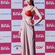 半乳ポロリ的な激エロドレスを披露した韓国の女優 (17)