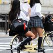 自転車 jk 女子高生 ミニスカ エロ 画像jpg (17)